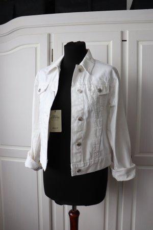 Neue weiße Jeansjacke locker Oversize Größe 34 36 38