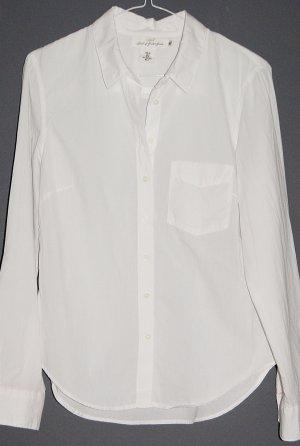 Neue weiße Langarm-Bluse