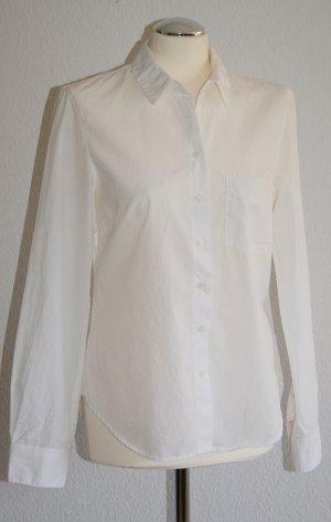 Neue, weiße Langarm-Bluse