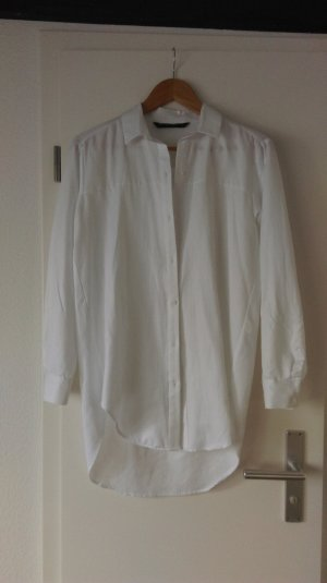 Neue weiße Longbluse von Zara