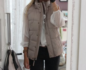 Broadway Quilted Gilet light grey-grey brown