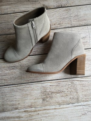 Cox Zipper Booties silver-colored suede
