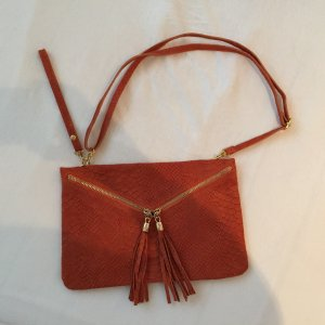 Neue Wildledertasche in orange/rost