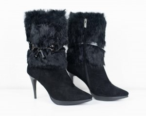 Bottines noir cuir