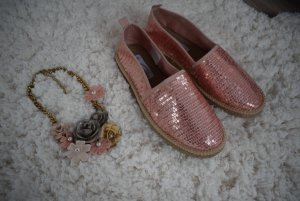 Espadrille Sandals pink synthetic material