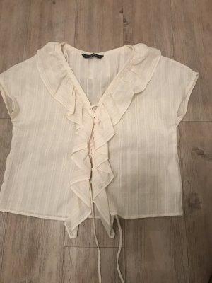 Zara Basic Ruche blouse room-goud