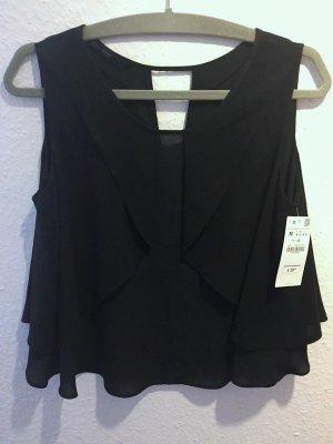 Neue Zara Bluse Top | schwarz | Gr. M