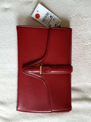 neue Zara Handtasche als Clutch oder mit goldenem Schulteriemen