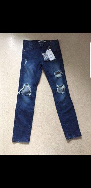 Zara Boyfriend jeans staalblauw