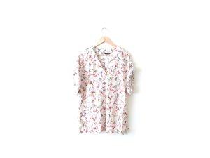 Neue Zara Kimono Bluse Gr. L 38 40 nude Vögel animal print Shirt