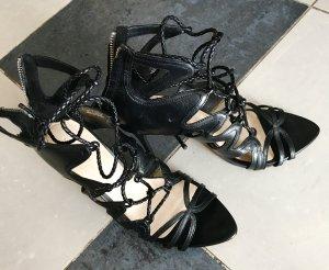 Zara Basic High-Heeled Sandals black