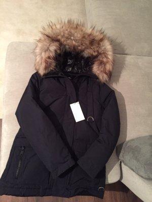 Zara Down Jacket dark blue