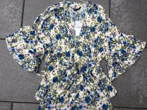 Zara Woman Wraparound Blouse multicolored