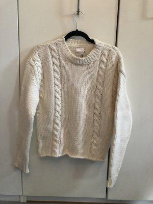Anine Bing Coarse Knitted Sweater cream-natural white