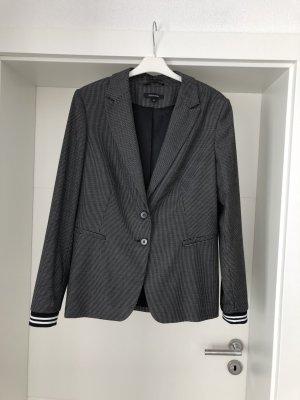 Comma Tailleur-pantalon blanc-noir polyester