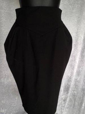 3 Suisses Falda globo negro tejido mezclado
