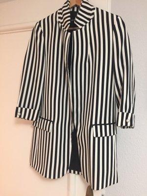 Zara Blazer long noir-blanc