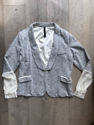 10 Days Blazer largo gris-blanco