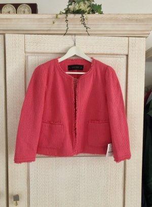 Zara Blazer corto magenta-rojo frambuesa