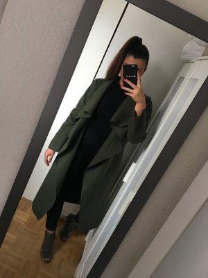 neuer blogger Mantel Wasserfall khaki grün von missguided