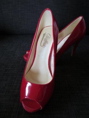 NEUER Buffalo High Heels, Gr. 37, Rot Lack