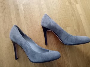 Buffalo London High Heels grey leather