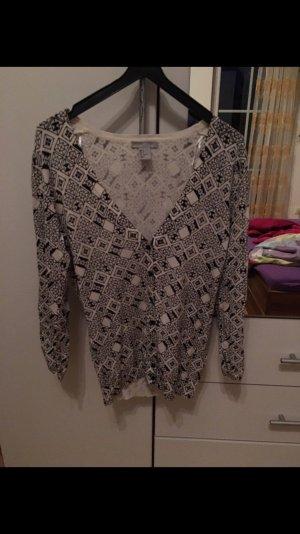 H&M Knitted Vest black-white