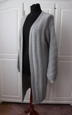 Coarse Knitted Jacket grey-light grey