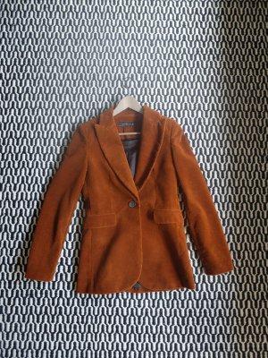 Zara Tweed blazer roodbruin Katoen