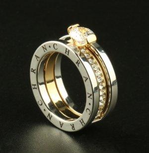 Ring zilver-goud