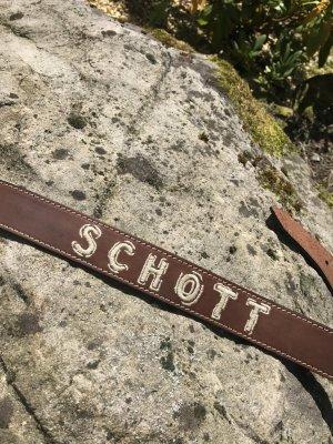Schott Cintura di pelle multicolore Pelle