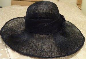Chapeau de soleil bleu foncé-noir