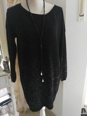 Expresso Oversized trui zwart-zilver