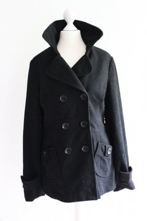 NEUER Fleece-Mantel, kurz, schwarz