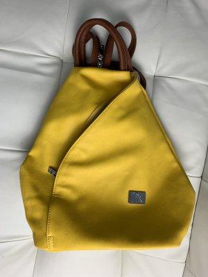 Mochila para portátiles amarillo-marrón