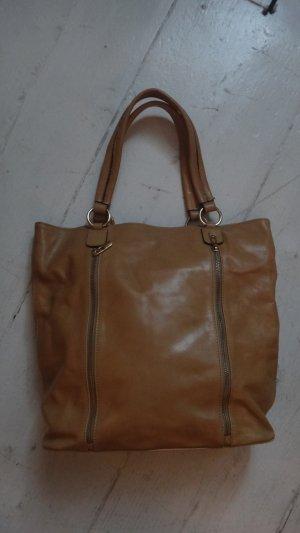 0039 Italy Shopper cognac cuir