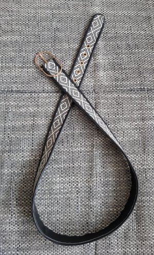 Cintura in tessuto bianco-nero