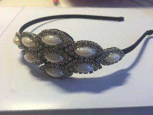 Neuer Haarreif mit Perlen/Strass