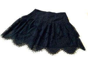Neuer Hallhuber Minirock aus Spitze, schwarz, Gr. 36