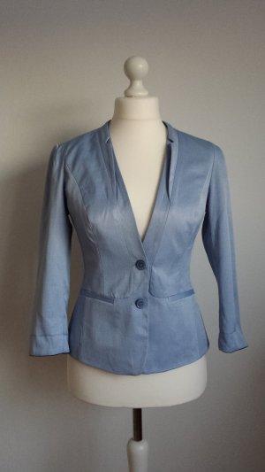 Neuer hellblauer Blazer für Damen, Größe 38