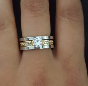 Ring silver-colored-gold-colored