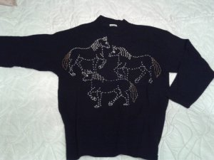Jersey de lana negro Lana