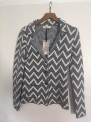 Cocogio Knitted Blazer white-light grey polyacrylic