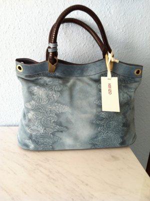 NEUER KENZO SHOPPER, liegt voll im Trend! Mit extra Innentasche, Jeansblaues, feinstes Velourleder, mit floralem Muster