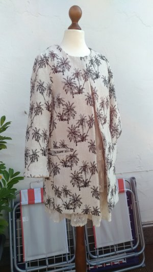 Neuer Kurzmantel von Zara mit Palmenmuster, Gr. 36 (S9