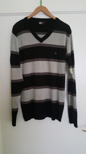Tommy Hilfiger V-Neck Sweater black-grey