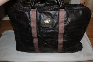 Travel Bag dark brown leather