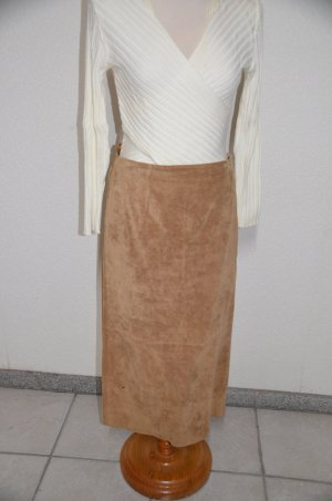 Leather Skirt beige suede