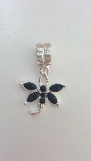 Pendant silver-colored-black