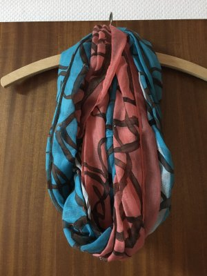 Fazzoletto da collo rosso-blu fiordaliso